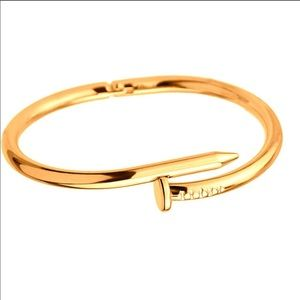 Jewelry - Gold plated nail bracelet